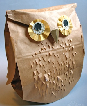 D.Sharp Journal paper bag owl
