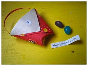 Kids Craft Weekly origami basket advent