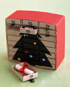 The Crafts Dept. matchbox advent