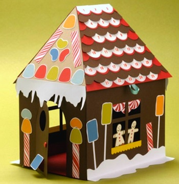 Paper Source printable gingerbread house advent