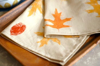 Craftstylish leaf print napkins