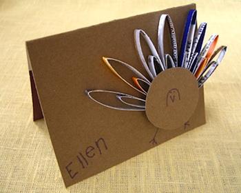 Alphamom turkey place card