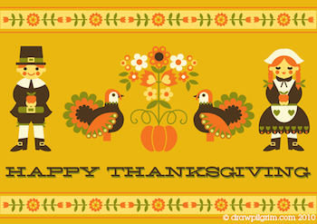 Draw!Pilgrim thanksgiving printable