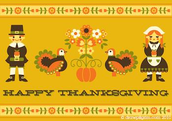 Draw!Pilgrim thanksgiving printable