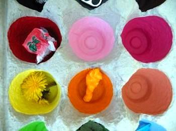 egg carton color collecting game