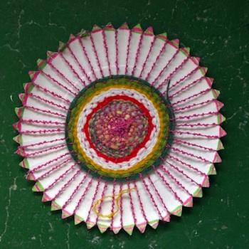 Fem Manuals paper plate weaving craft for kids