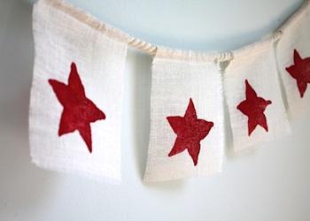 Starfruit print banner