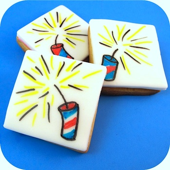 The Decorated Cookie firecracker cookies