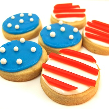 The Decorated Cookie stars and stripes cookie bites