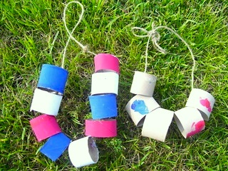 Mommy Teacher 123 red white blue necklace