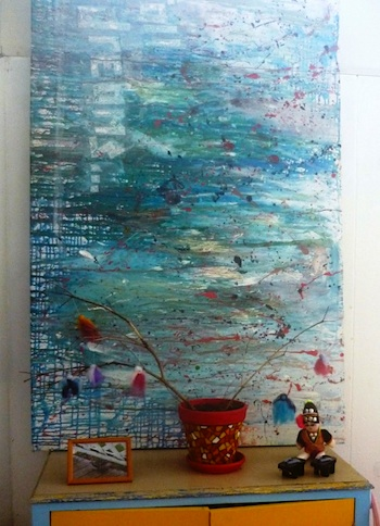 Let The Children Play super size marble painting2