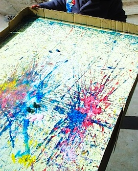 Let The Children Play super size marble painting