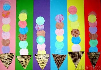 Kids Artists ice cream