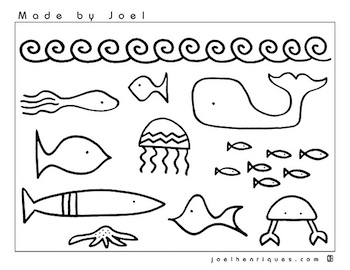 Made By Joel fish coloring page
