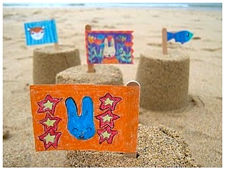 Joey's Dream Garden sandcastle flags