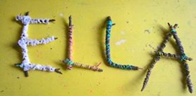 Kids Craft Weekly letter sticks