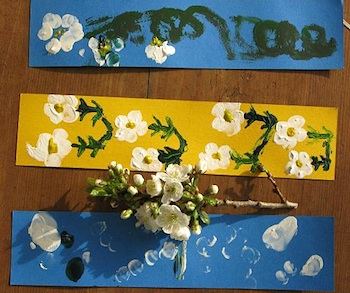 Time To Craft blossom bookmarks