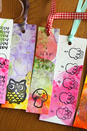 Whimsy Love bookmarks traditional