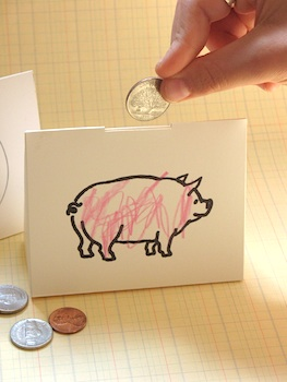 D.Sharp Journal paper piggy bank