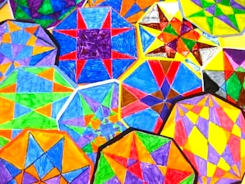 Art Lessons For Kids geometric designs