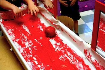 Preschool Daze apple rolling