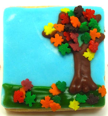 The Decorated Cookie fall tree cookie