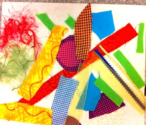 LaughPaintCreate fancy fabric collage