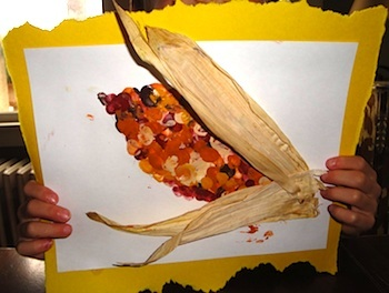La Famille indian corn art