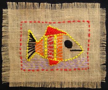 Teach Kids Art stitchery