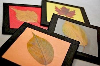 Frugal Family Fun fall leaf coaster