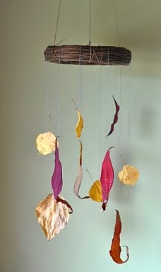 Small Wonders fall leaves mobile