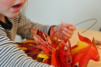 Lilla A fall leaves wreath