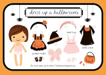 Babalisme Halloween girl paper dolls