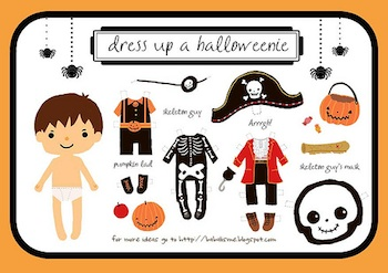 Babalisme Halloween boy paper doll