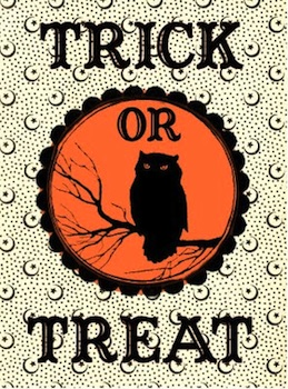 The Graphics Fairy trick or treat bag label