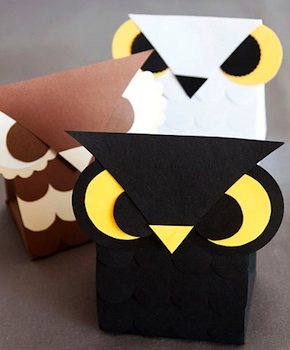Paper Crave printable owl treat box