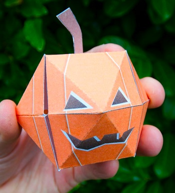 Rob Ives paper pumpkin printable