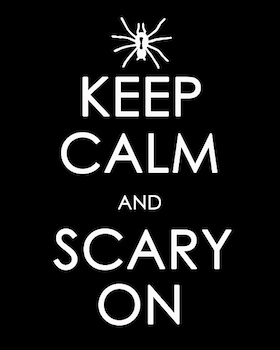 Craftily Ever After keep calm and scary on print