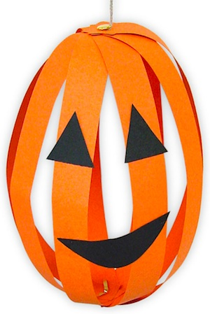 Art Projects For Kids paper strip pumpkins