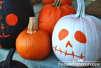 The Celebration Shoppe spray stenciled pumpkins