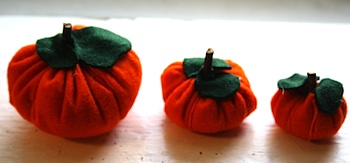 Twig And Toadstool felt pumpkins