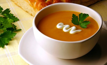 Kidspot Kitchen simple pumpkin soup