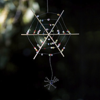 Family Fun beaded spider web V gingerbread snowflakes V