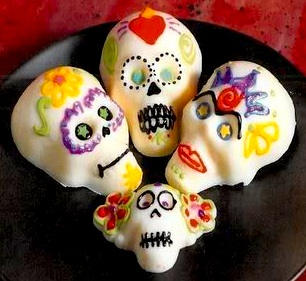 The Crafty Chica white chocolate sugar skulls