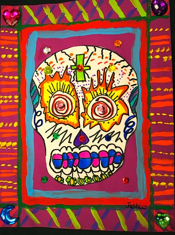 Painted Paper day of dead