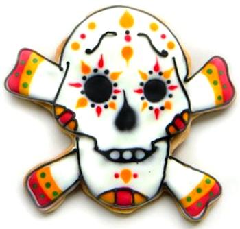 Latina dia de los muertos cookie