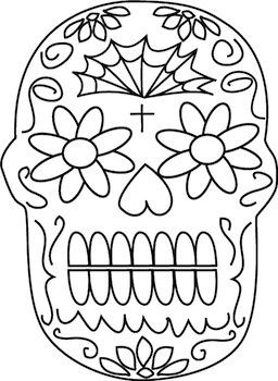Lee Hansen day of the dead coloring page