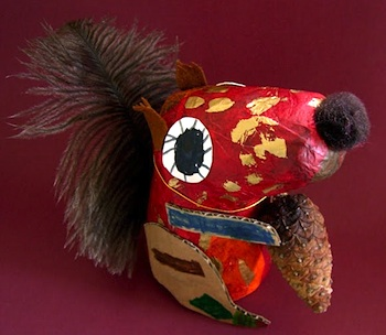 Squirrel crafts for kids things to make and do crafts for Things to make with paper mache