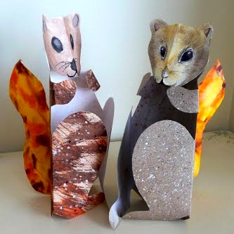 That Artist Woman paper squirrels