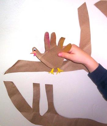 Almost Unschoolers hand turkey thanks 2
